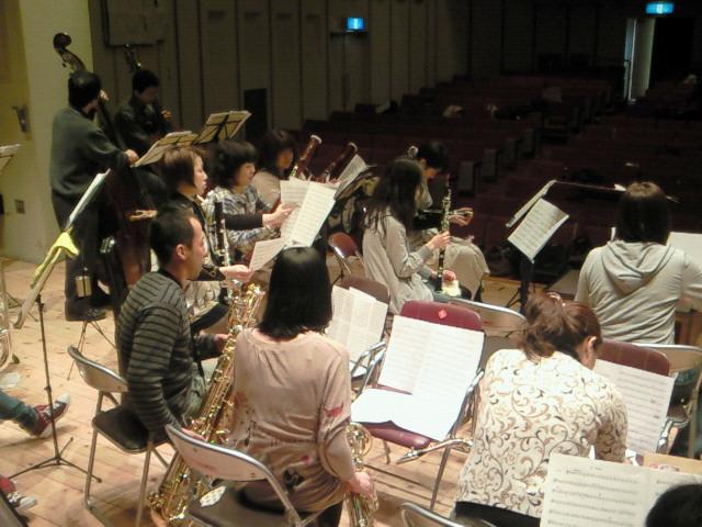 【3/6:3】吹奏楽リハ休憩中